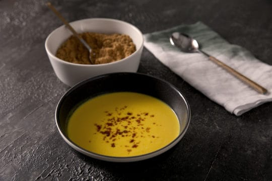 Pumpkin Soup with Virtual Bacon Dust