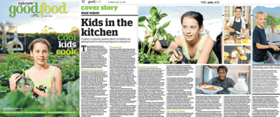 Dani Valent Kids Cooking Epicure May 2014